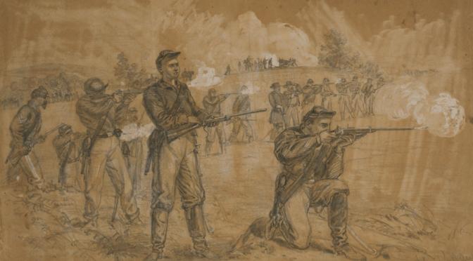 Spieszona kawaleria / Dismounted ACW cavalry