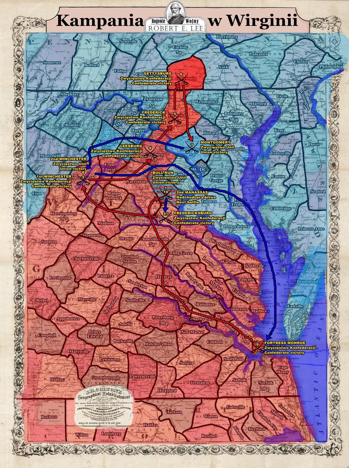 Kampania Wirginia po 9 bitwie sm