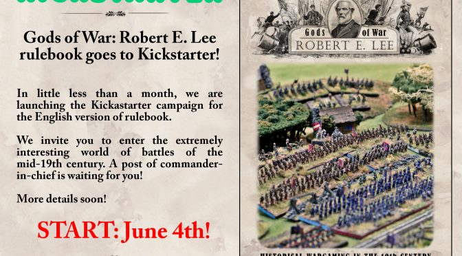 Gods of War: Robert E. Lee rulebook goes to Kickstarter!
